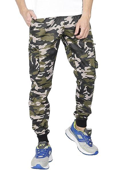 10a99e3a8abf VERSATYL- Men s Camouflage Cotton Track Pant (Green
