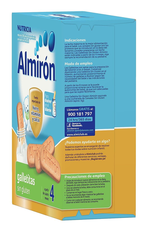 Almirón Advance Galletitas sin gluten 250 g Paquete de 12 x 250 g -Total: 3 kg