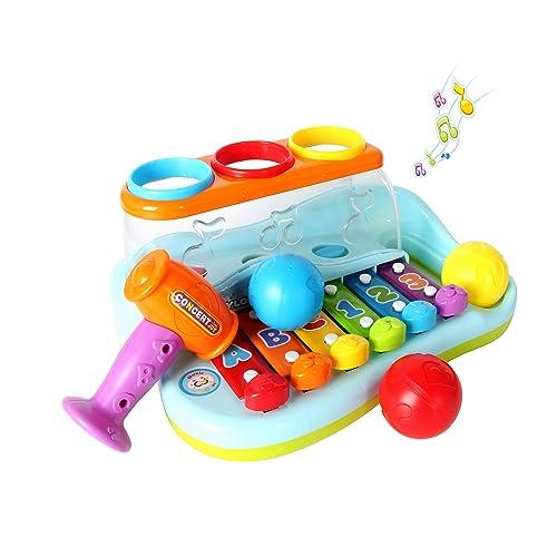 GoStock Jouets Musicaux du bébé Cadeau Enfant Noël Anniversaire Toussaint,Jouet Musical Instrument 1,2,3 Ans