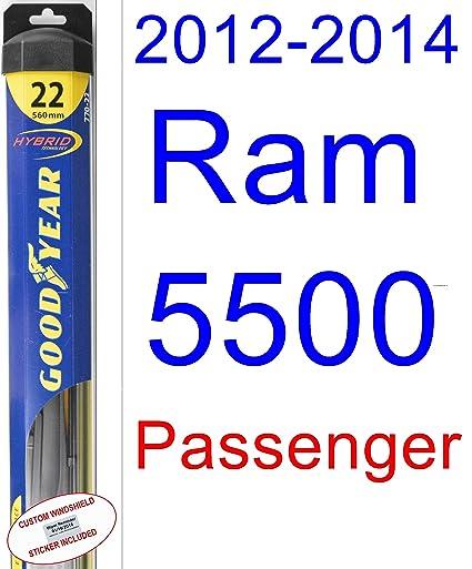 Ram 5500 - Juego de escobillas limpiaparabrisas de repuesto para 2012 – 2014 (limpiaparabrisas Goodyear