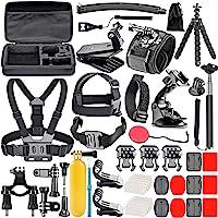 Neewer 50-In-1 Kit di Accessori per Action Camera Compatibile con GoPro Hero 8 Max 7 6 5 4 Black GoPro 2018 Session Fusion Argento Bianco Insta360 DJI AKASO APEMAN Campark SJCAM Action Camera ecc.
