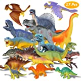 Estela Dinosaur Toy Set 17 pcs Realistic Little Dinosaur Figure Model Toy Dinosaurs Children's Birthday Party Decoration