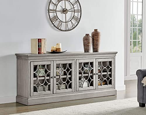 Martin Furniture Felicity 4 Door Console, Gray