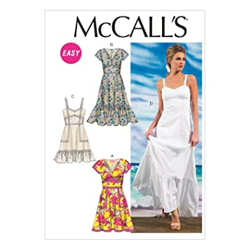 4cb8d87a1f9 Image Unavailable. Image not available for. Color  McCall Pattern Company  M6749 Misses  Lined Dresses Sewing Template ...