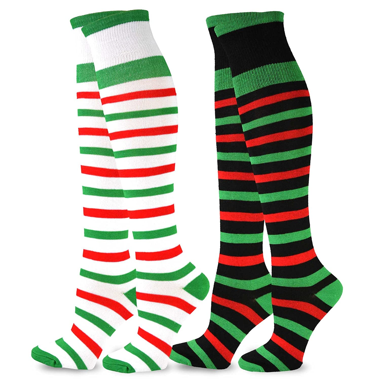 TeeHee Christmas and Holiday Fun Knee High Socks for Women 3-Pack Soxnet Inc S/11319-2P09