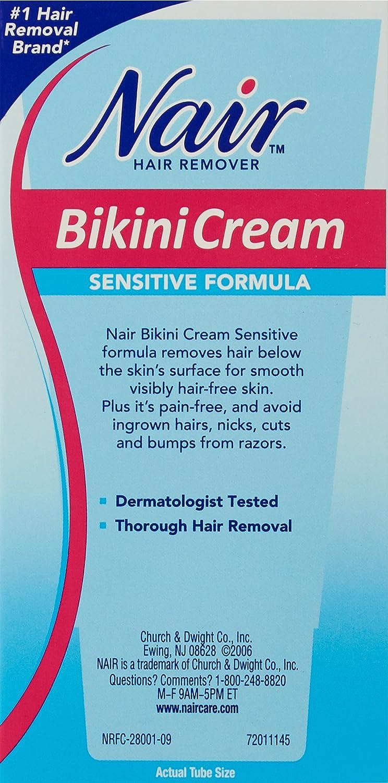 Amazon.com : Nair Hair Remover Bikini Cream Sensitive 1.7 Ounce (50ml) (2  Pack) : Hair Removal Wax : Beauty