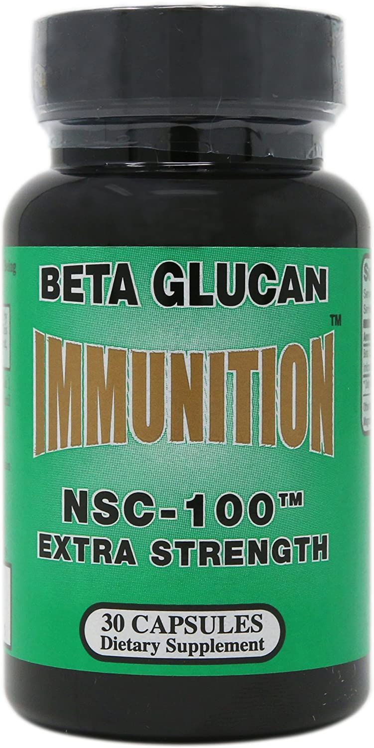 Nutritional Supply Corp Immunition NSC 100 Beta Glucan Extra Strength – 10 mg – 30 Capsules
