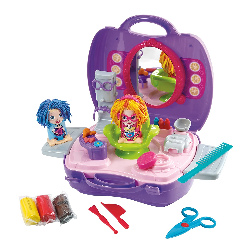 PlayGo Dough /& Carry Hair Salon Childrens Art Doughs