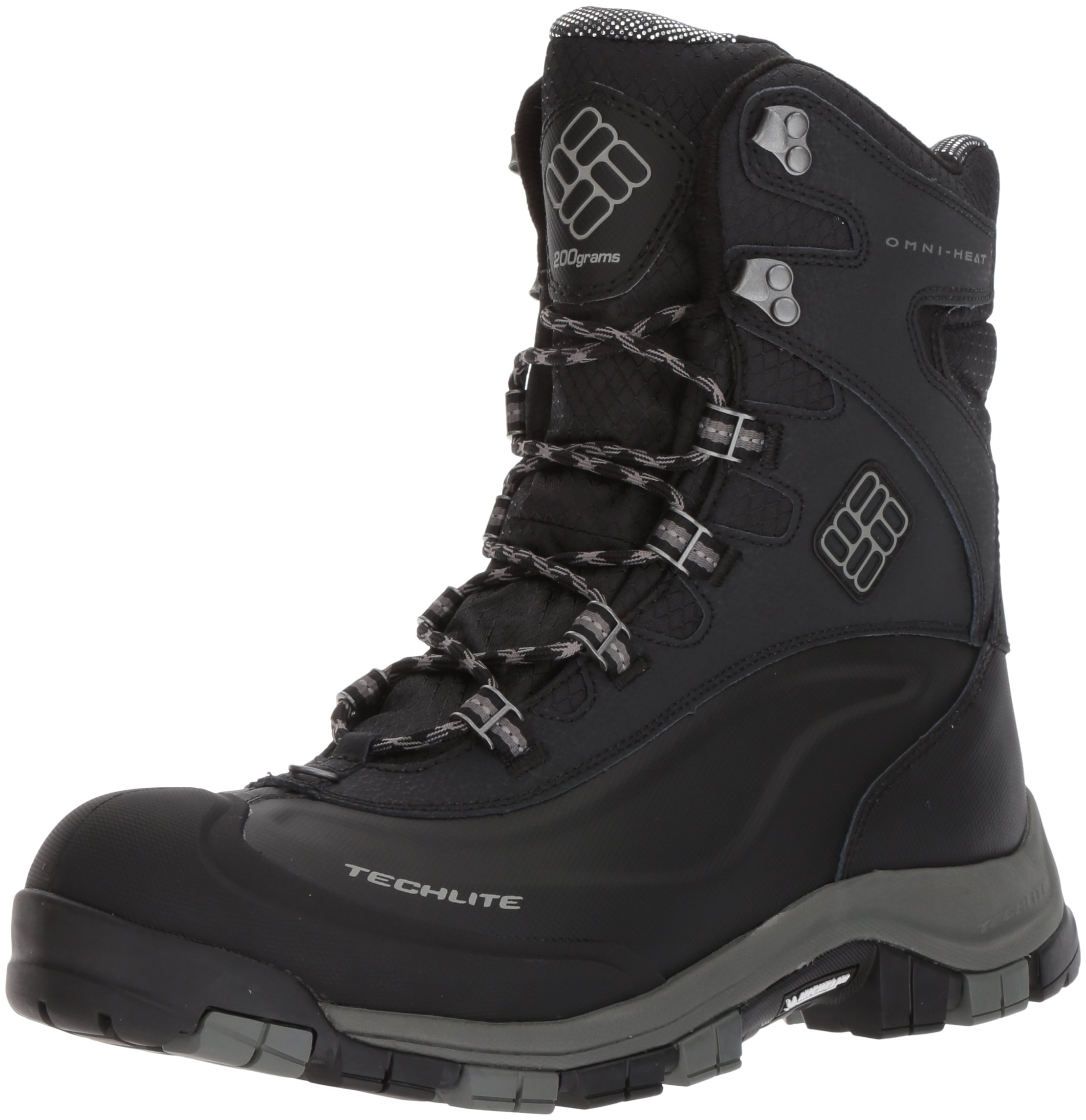 Columbia Men's Bugaboot Plus Omni-Heat Michelin Snow Boot, Black, Boulder, 7 D US by Columbia