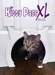 Great The Kitty Pass XL Large Cat Door, Interior Large Pet Door Hidden Litter Box.