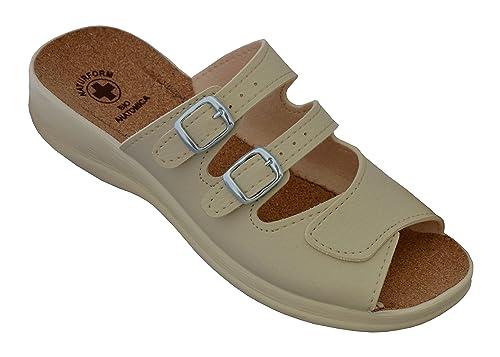 BAWAL Pantofole Sanitarie da Donna Sughero Sandalias Scarpe Sanitarie Bianco  Nero Ciabatte Ospedale Lavoro Comodo 36-41  Amazon.it  Scarpe e borse 439cc886078