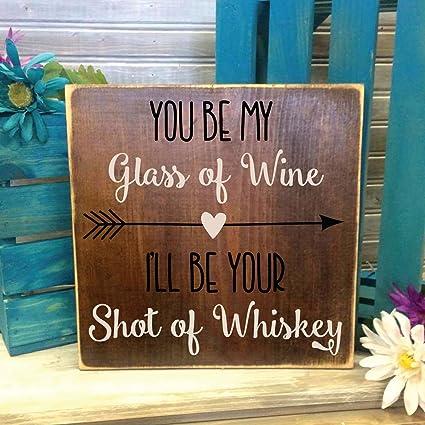 Amazon Carolju Wine Whiskey Quote Wood Sign Primitive Home