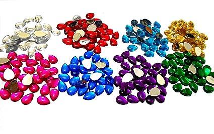 Stones/Kundans drop shape for jewellery making/decorating. 8 ...