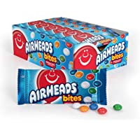Airheads Bites Candy, Movie Theater Bag, Fruit, Non Melting, 2 oz (Bulk Pack of 18)