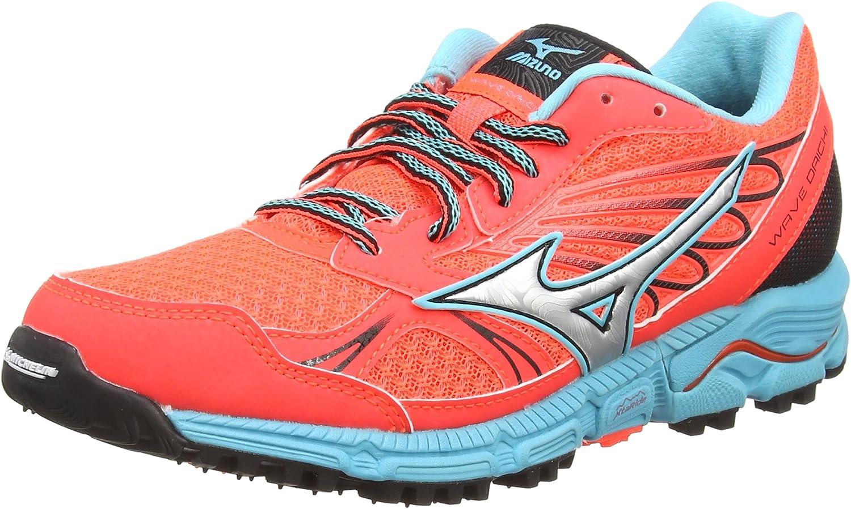 Mizuno Wave Daichi, Zapatillas de Running para Mujer, Naranja (Fiery Coral/Silver/Capri), 36. 5 EU: Amazon.es: Zapatos y complementos