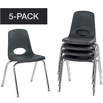 Amazon.com: Silla apilable para la escuela, sillas apilables ...