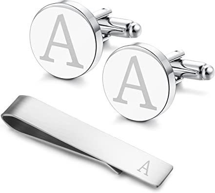 Cuff Links Set Jewels By Lux Silver-Tone Card Case Money Clip