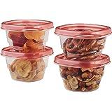Rubbermaid takealongs 方形食品保鲜盒 divided 单 红色 0.5 Cup (6 Pack)
