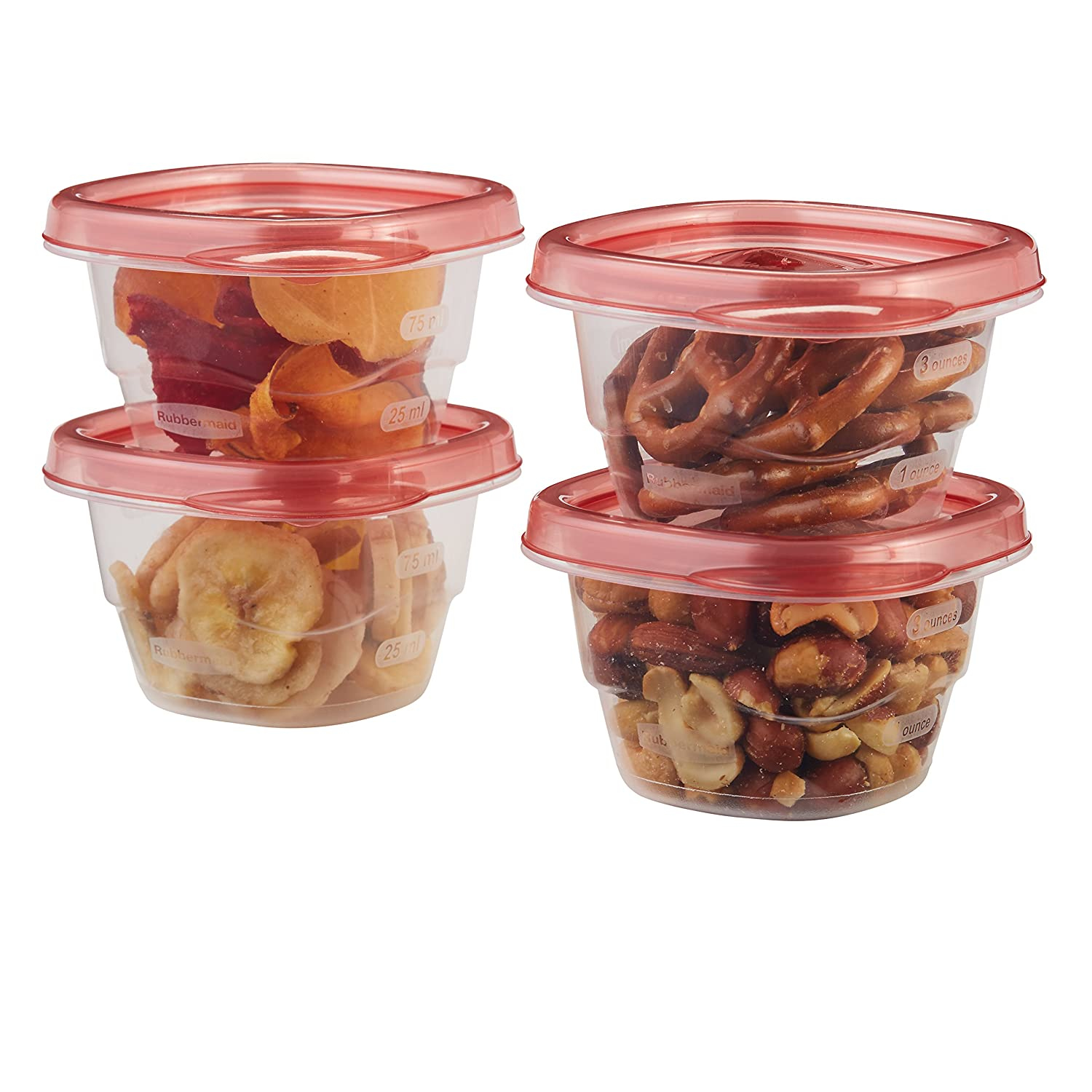 Rubbermaid - 1803522 Mini Food Storage Containers, (0.5 Cup), (6 Pack)