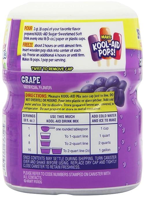 Amazon Kool Aid Drink Mix Sugar Sweetened Grape 19 Ounce