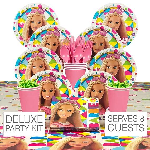 Amazon.com: Barbie suministros para fiesta de cumpleaños ...