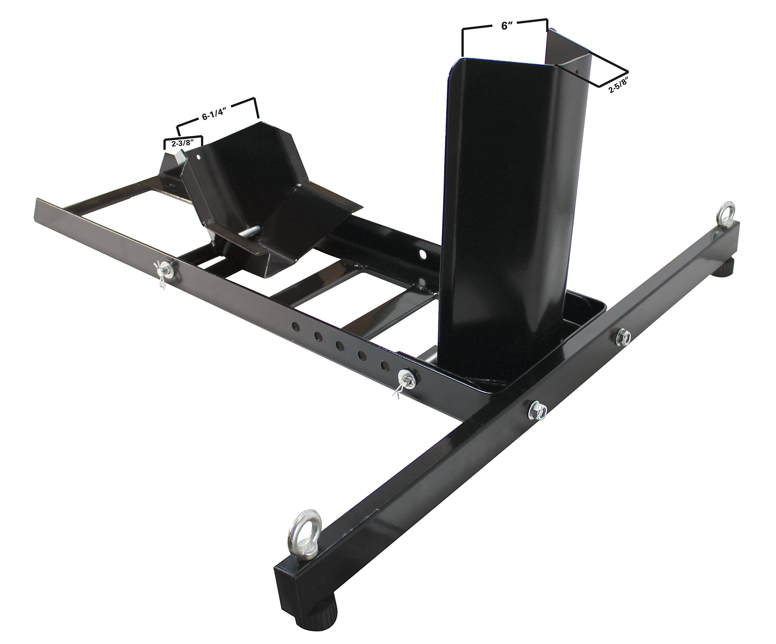 Extreme Max 5001.5757 Adjustable Motorcycle Stand/Wheel Chock-1,800 lbs by Extreme Max (Image #4)