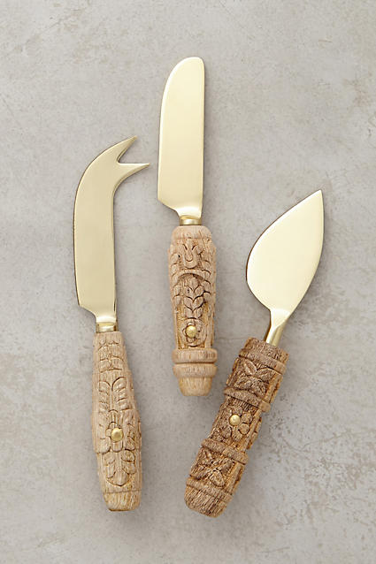 Carved Aurelian Cheese Knives - anthropologie.com