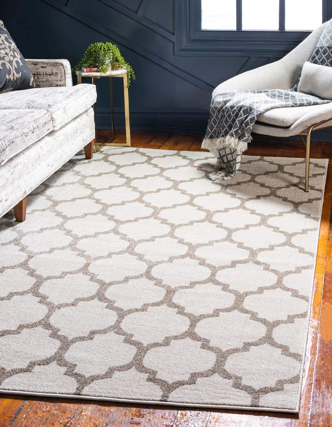 Safavieh Wyndham Collection WYD720A Handmade Natural and Multi Wool Area Rug, 5 feet by 8 feet 5 x 8