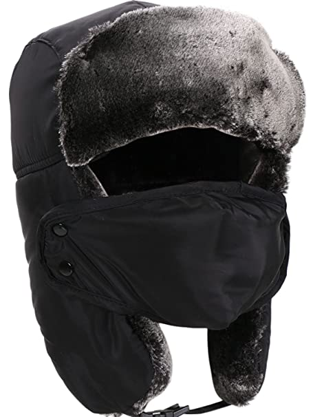 ec31724b3b493 Amazon.com  Unisex Hunting Hat Faux Fur Trooper Hat with Windproof ...