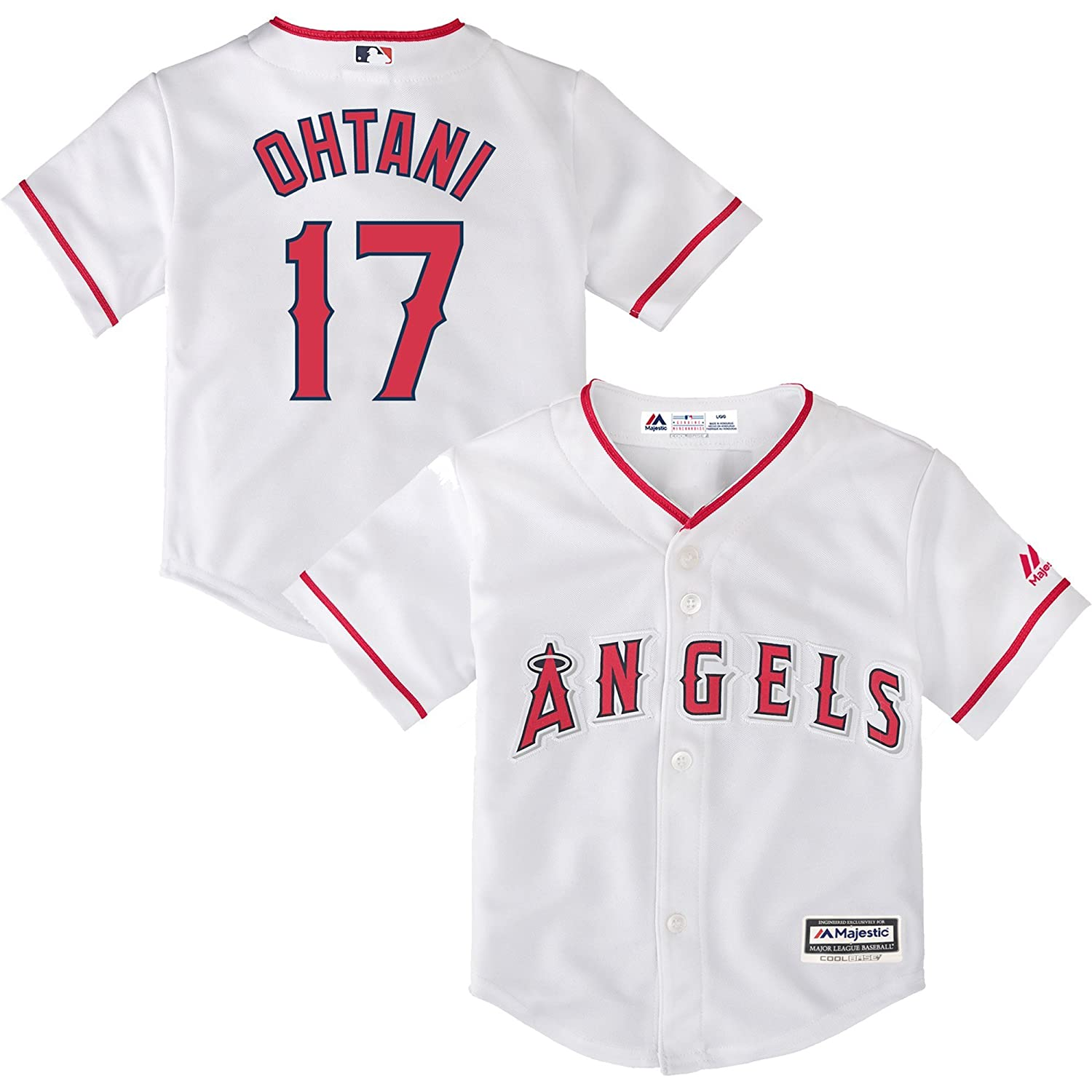 043d083e5 Amazon.com   Outerstuff Shohei Ohtani Los Angeles Angels  17 Toddler Cool  Base Home Jersey   Sports   Outdoors