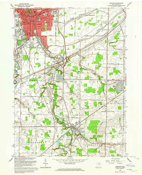 Amazon Com Yellowmaps Grafton Oh Topo Map 1 24000 Scale 7 5 X