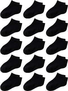 Cooraby 25 Pairs Kids Low Cut Socks Half Cushion Sport Ankle Athletic Socks