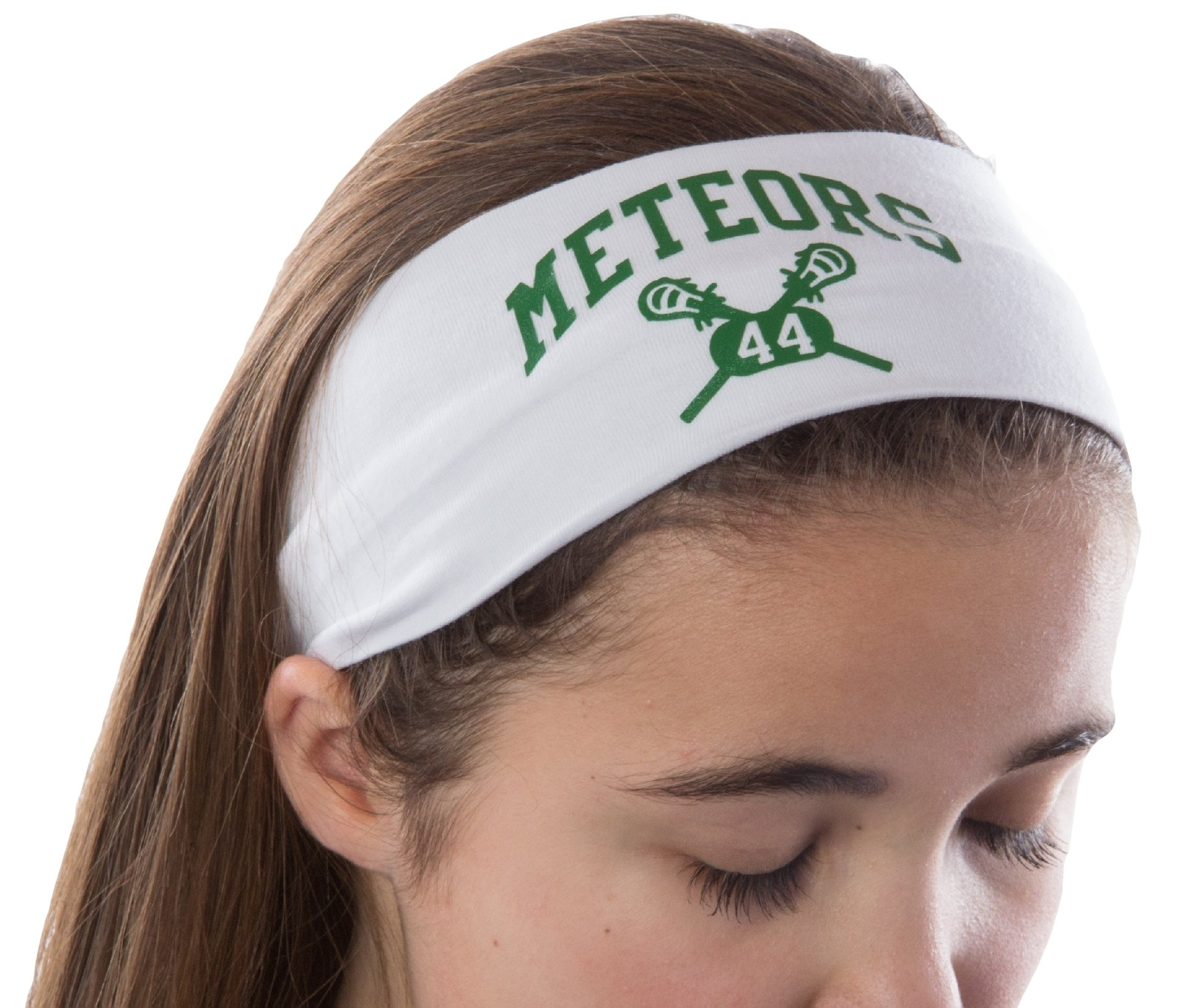 Design Your Own Personalized LACROSSE Cotton Stretch Headband With CUSTOM NAME VARSITY FONT by Funny Girl Designs