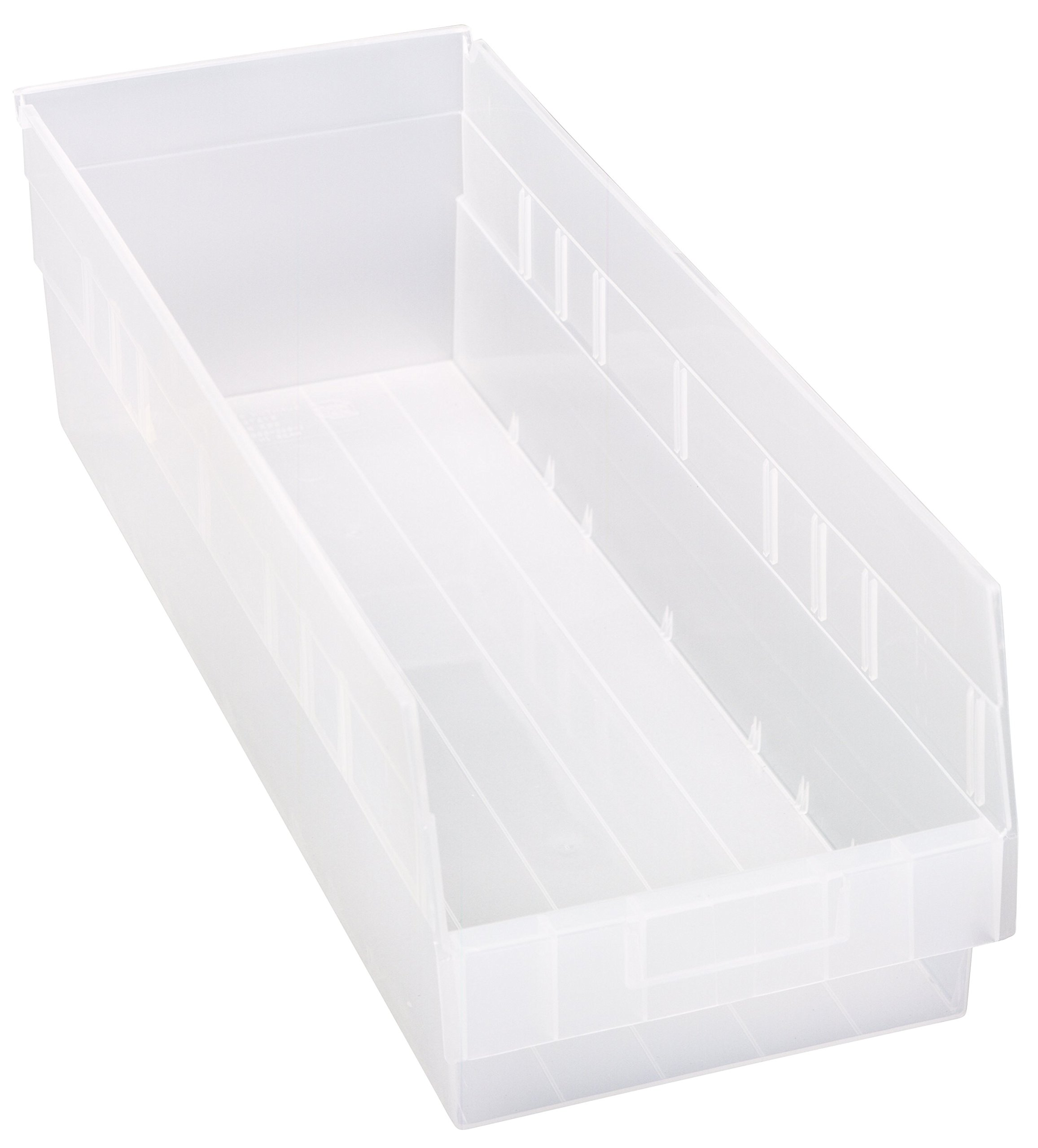 Quantum QSB214CL Store More Shelf Bin, 23-5/8'' Length x 8-3/8'' Width x 6'' Height, Clear, Pack of 6 by Quantum