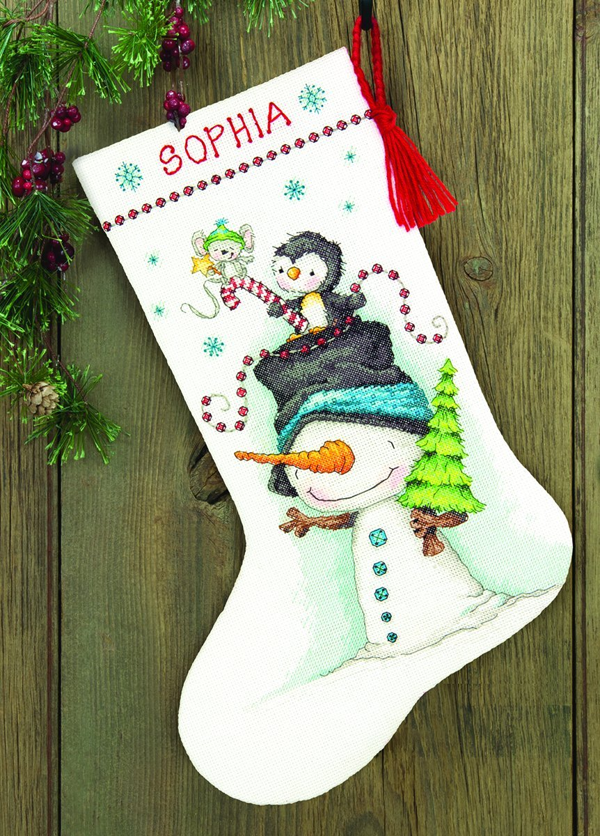 Dimensions Crafts 70-08937 Needlecraft Jolly Trio Stocking in Counted Cross Stitch IDEAL DESIGN ENTERPRISES CO. LTD