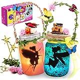 Alritz Fairy Lantern Craft Kit - Gift for Kids Ages 4-12 - Remote Control Mason Jar Night Light - DIY Garden Decor Art Projec