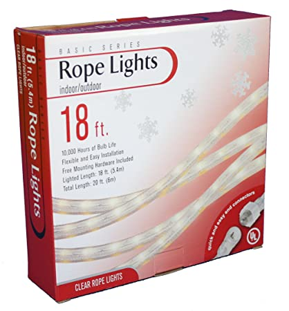 Amazon 18 foot clear rope light includes mounting hardware 18 foot clear rope light includes mounting hardware aloadofball