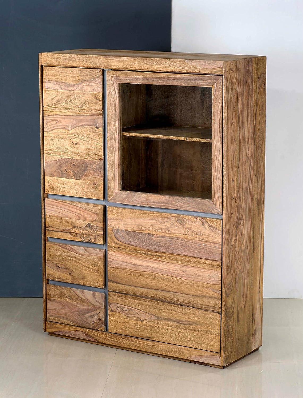 Vitrine Schrank Highboard \'Indian Spirit\' Sheesham massiv Holz ...