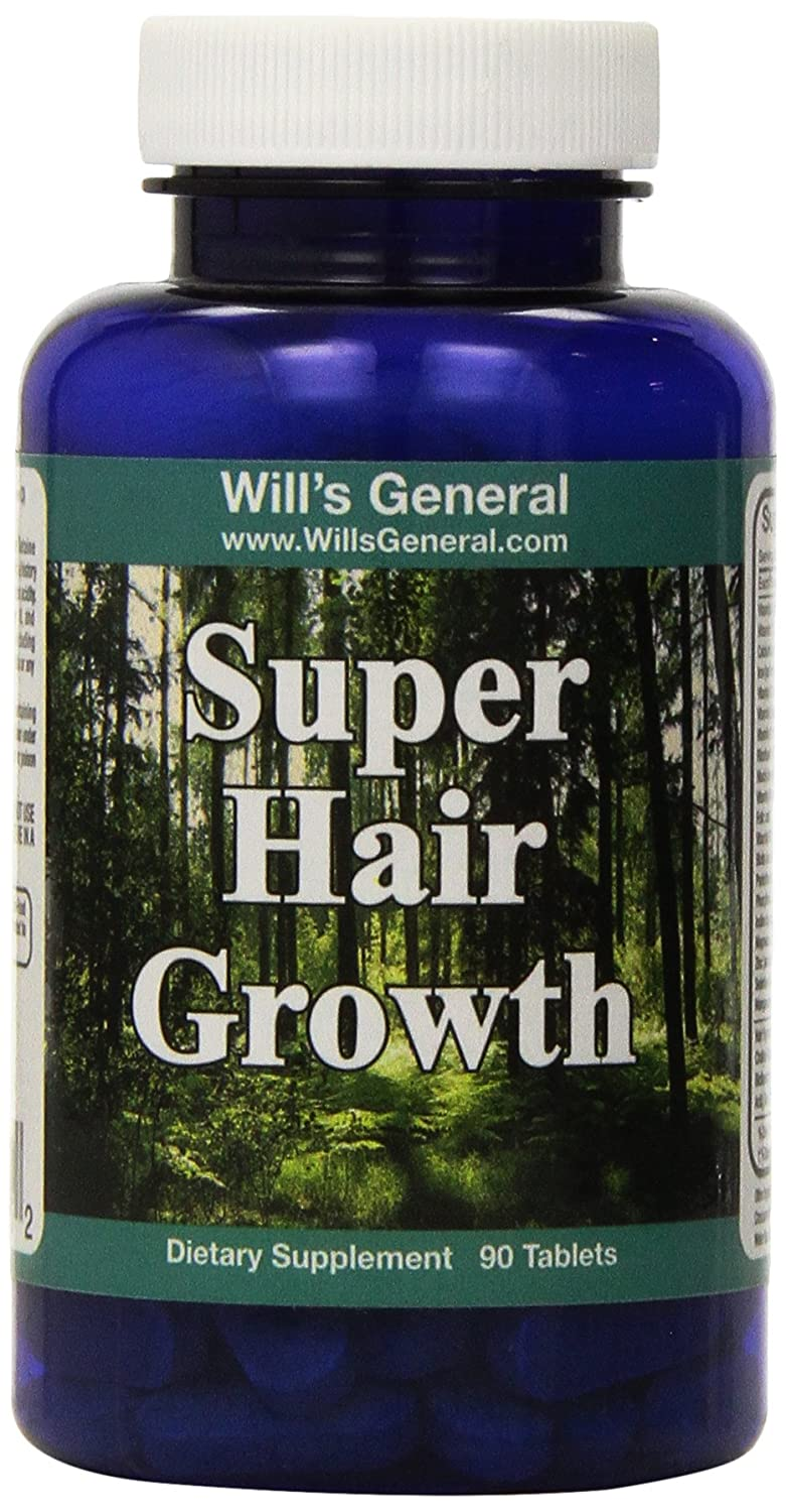Hair Growth Vitamins ! ★ Supports Hair Growth ★ Stimulate Vibrant and Healthy Hair Production! 100% Natural, Hair Growth Pills ! Natural Thicker, Longer, Vibrant Hair!! Nutrient Rich Formula - PROMOTIONAL PRICE! Will' s General