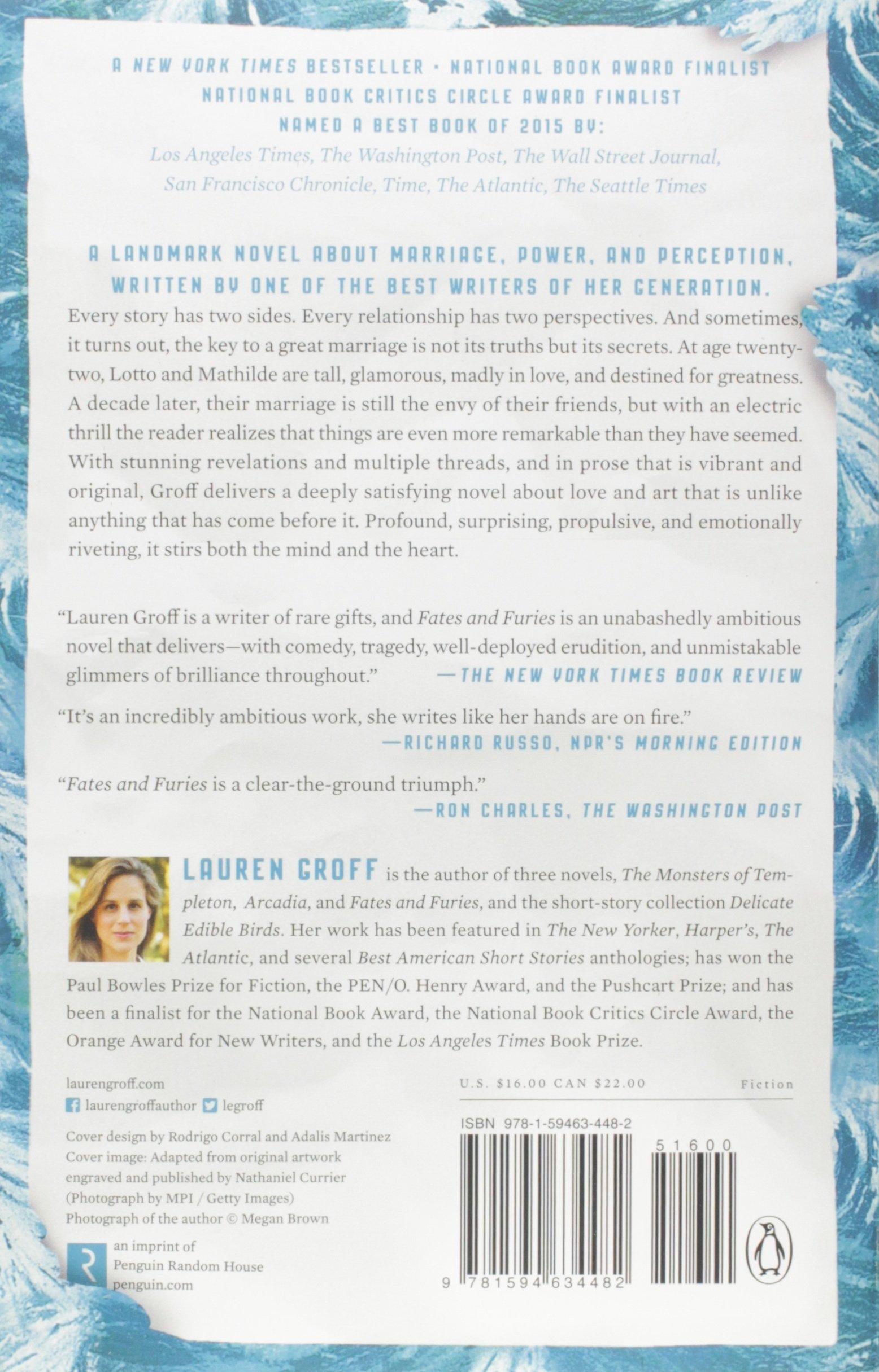 Fates And Furies A Novel Lauren Groff 9781594634482
