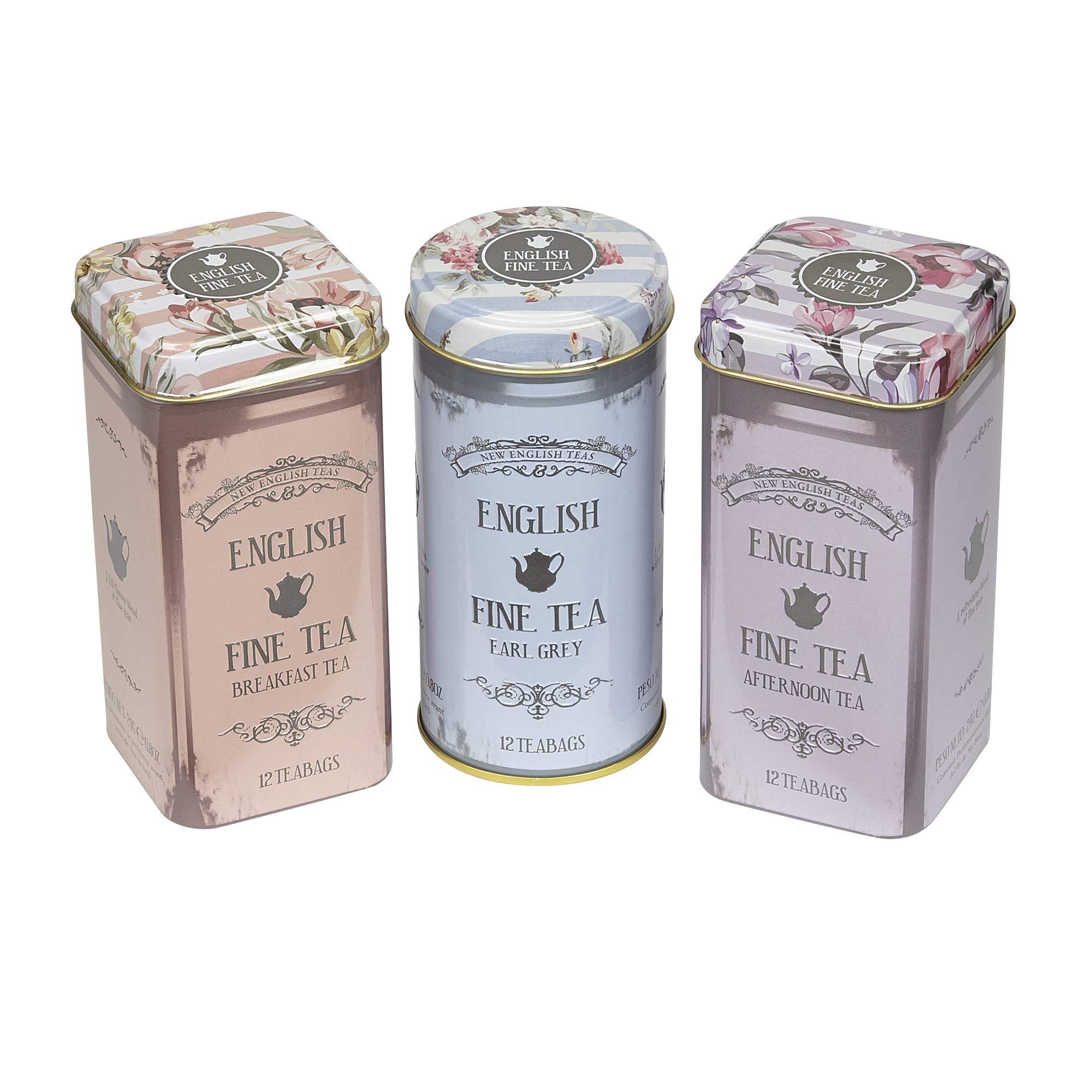 New English Teas Floral Tea Tin Teabag Selection Gift RS36
