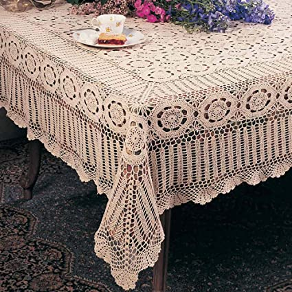 Amazoncom Handmade Crochet Lace Tablecloth 100 Cotton Crochet