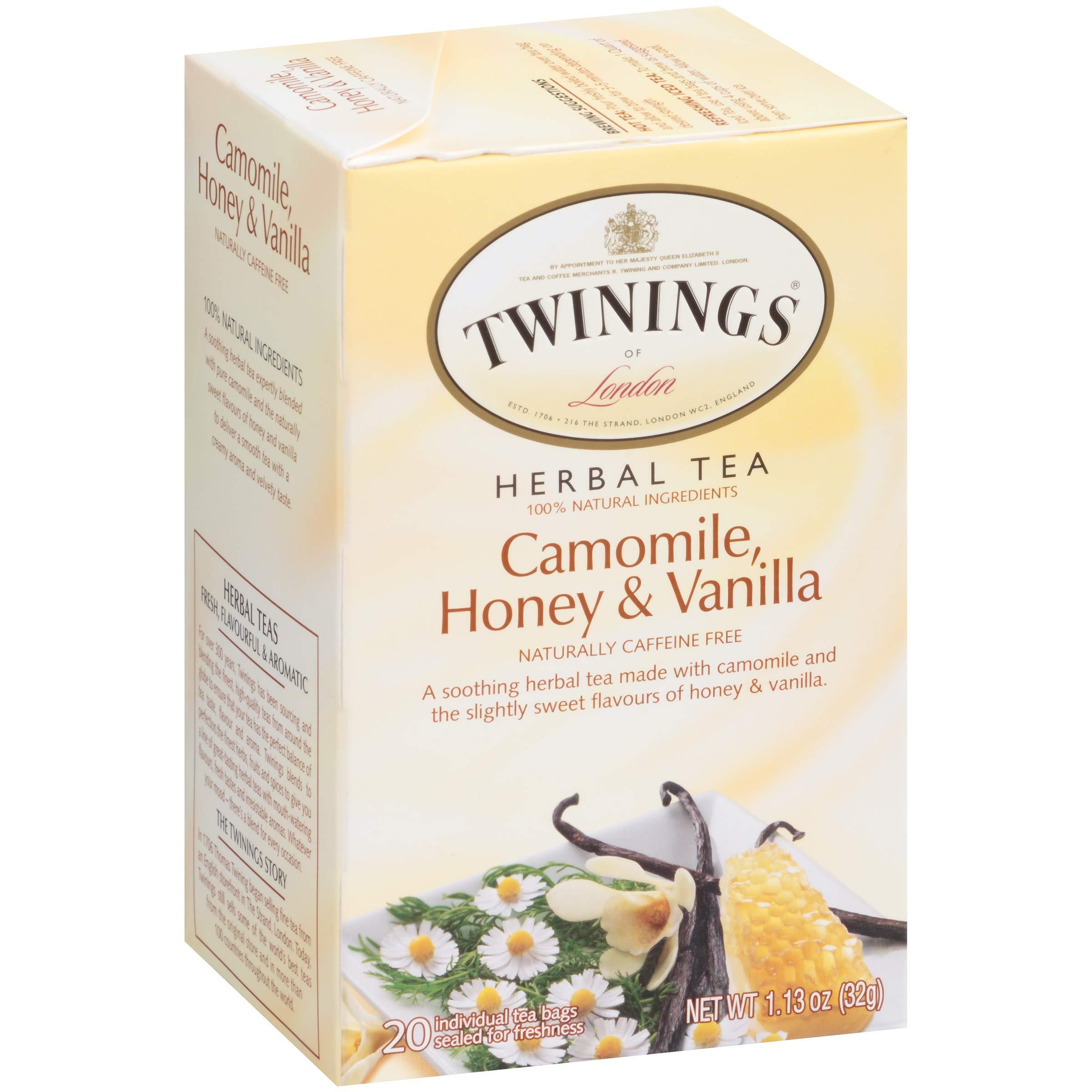Twinings of London Tea (Camomile, Honey, Vanilla 20 ct (6 pack))