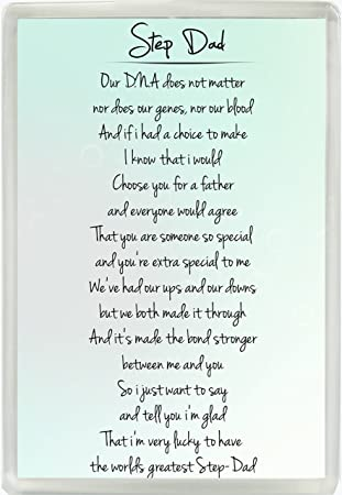 Step Dad Poem Jumbo Fridge Magnet Ideal Birthday Fathers Day Gift 871