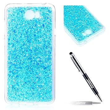 Carcasa Huawei Y5 II, Funda Huawei Y5 II, JAWSEU Huawei Y5 II Carcasa Caso Estuche 3D Creativa Diseño Lujo Moda Crystal Bling Ultra Delgado Suave ...