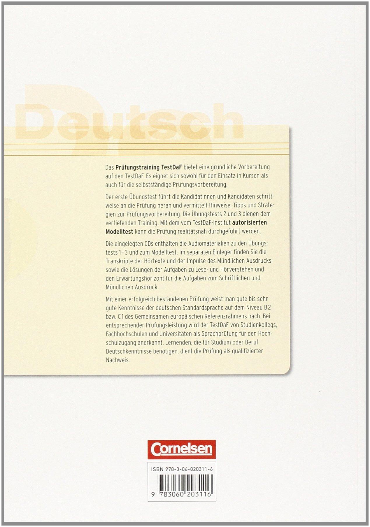 prfungstraining daf b2c1 testdaf bungsbuch mit autorisiertem carola heine elisabeth lazarou amazonde bcher - Testdaf Prufung Beispiel Pdf