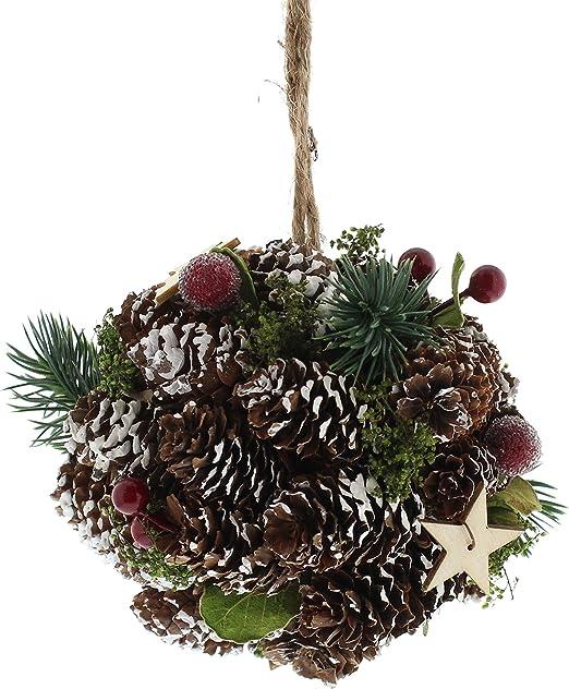 Festive - Bola de pino con forma de cono, 13 cm, color natural ...