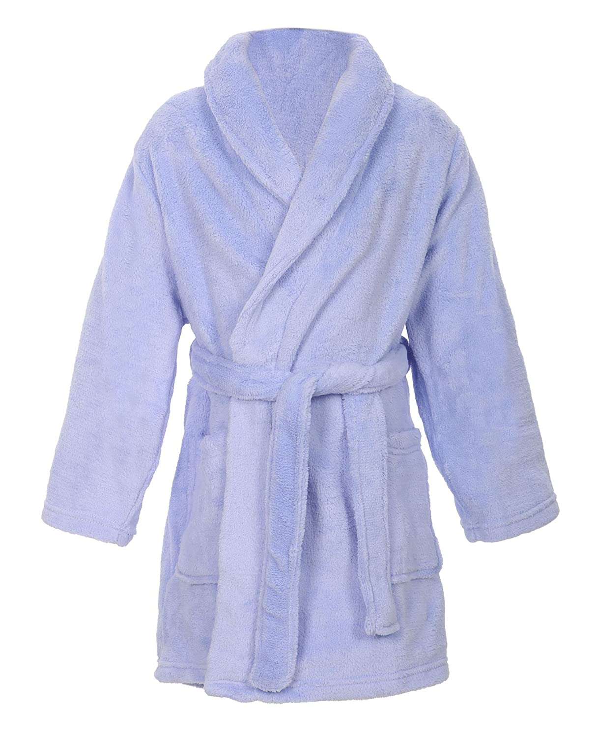 Simplicity Kid's Soft Plush Bathrobe Robe with Long Sleeve, Pockets GP15100042