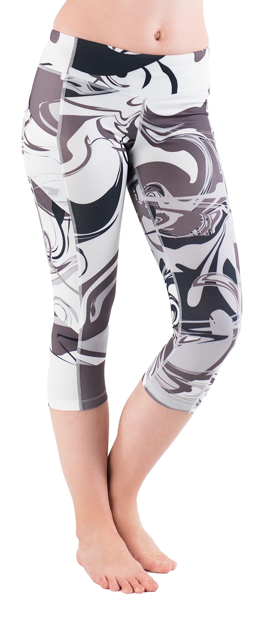 Skirt Sports Women's Pocketopia Capri, Persevere Print, X-Small by Skirt Sports