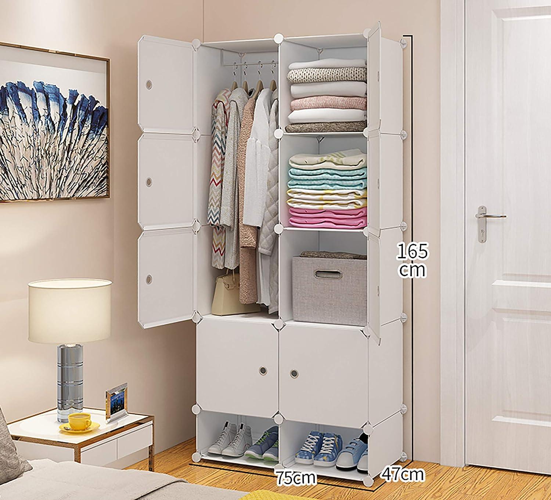 Amazon.com: Small Bedroom Wardrobe, Simple Wardrobe, Space-Saving Storage Cabinet, Drawer Type Storage Cabinet And Storage Combination Wardrobe-5 Gridshoecabinet: Kitchen & Dining